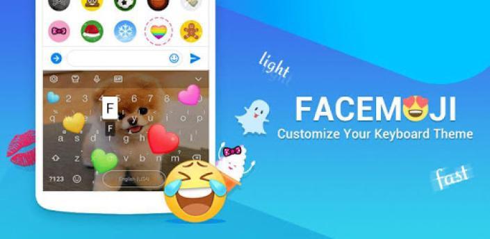 Facemoji Emoji Keyboard Lite: GIF, Emoji,DIY Theme apk