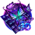 Lively Neon Butterfly Keyboard Icon
