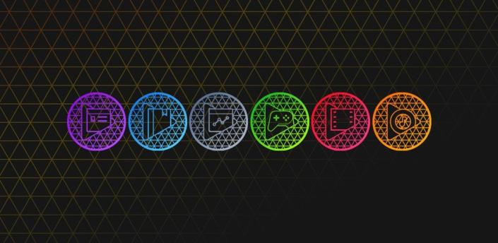 Pixel Net - Neon Icon Pack apk