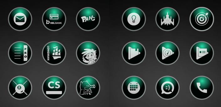 Glossy Emerald Icons apk