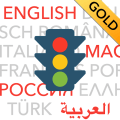 Führerschein multilingual GOLD 2019 - Fahrschule Icon