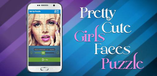 Pretty Cute Girls Faces Puzzle apk