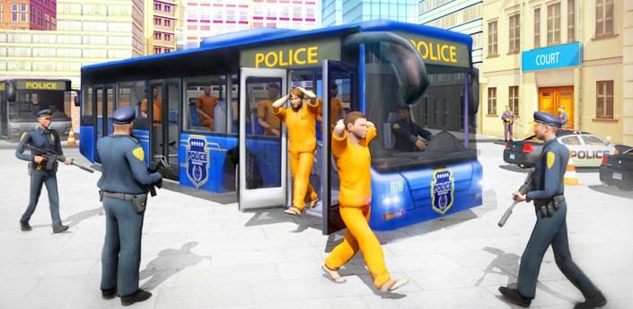 Shooting Police poisoner Gun Bus Driving Simulator apk