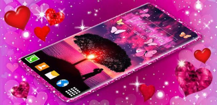 Love You Live Wallpaper ❤️ Couple Hearts Themes apk