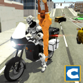 Police Robot Bike Chase Icon