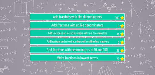 Adding Fractions Math Trainer apk