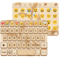 Gold Wood Emoji Keyboard Theme Icon