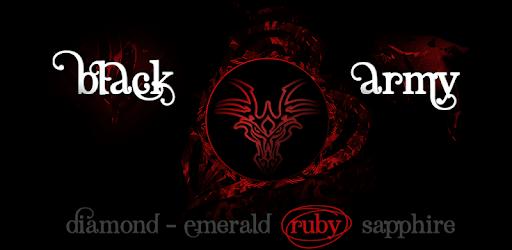 Black Army Ruby - Icon Pack - Fresh dashboard apk
