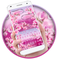 Beautiful Pink Water droplet Sms Keyboard Theme Icon