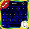 Blue Neon keyboard theme Icon