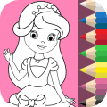 Princess Colouring Book Icon