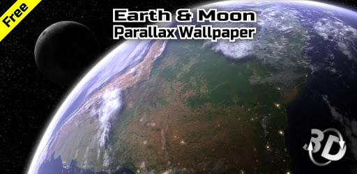 Earth & Moon in HD Gyro 3D Parallax Live Wallpaper apk