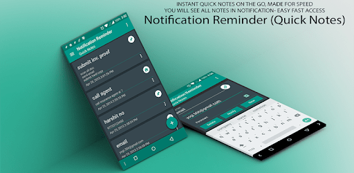 Quick Notes Reminder in notification apk
