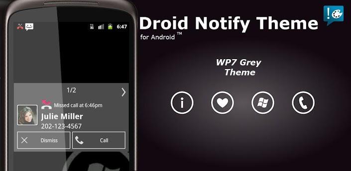 Notify - WP7 Grey Theme apk