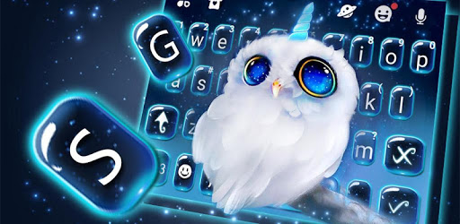 Night Unicorn Owl Keyboard Theme apk