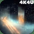 4K Night City Fog Video Live Wallpaper Icon