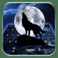 Wolf legend blue moon animal keyboard Icon