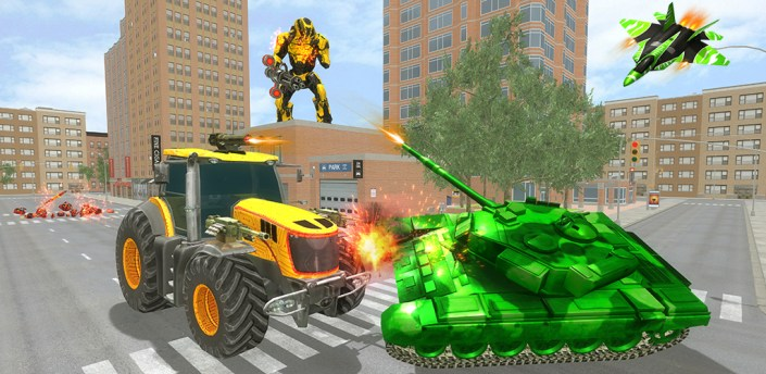 Flying Robot Tractor Transforms Games apk