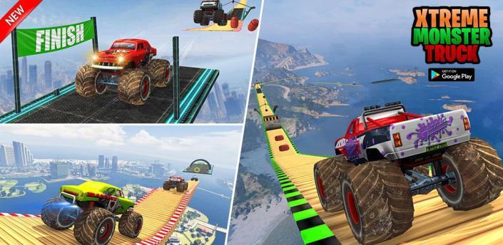 GT Mega Ramp Monster Truck Stunts Free apk