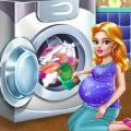 Laundry Girls Wash Dirty Cloth Icon