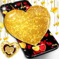 Gold glitter hearts live wallpaper Icon