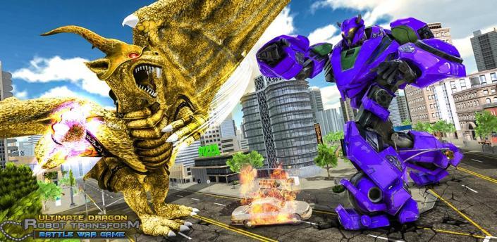 Ultimate Dragon Robot Transform Battle War Game apk