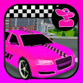 Pink Lady Crazy Taxi Driver 3D - New Car Game 2020 Icon