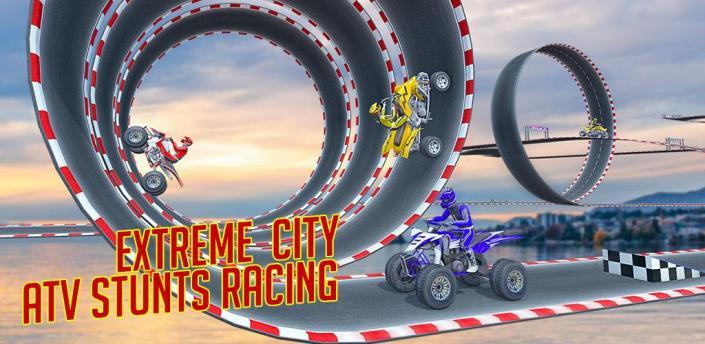 Ramp ATV Bike Stunts: Extreme City GT ATV Race apk