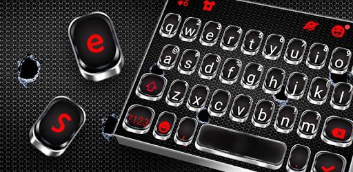 Silver Metal Keyboard Theme apk
