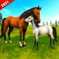 Wild Horse Family Simulator : Horse Games Icon