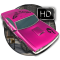 Military Pink Car Parking Icon