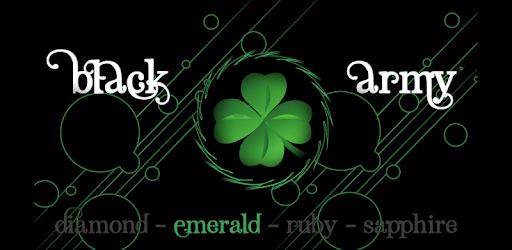 Black Army Emerald - Icon Pack - Fresh dashboard apk