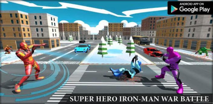 Iron Superhero War - Superhero Games apk