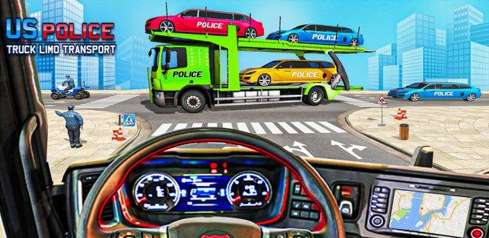 Police Limo Car Transporter - Transport Car Games apk