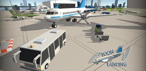 Toon Plane Landing Simulator apk
