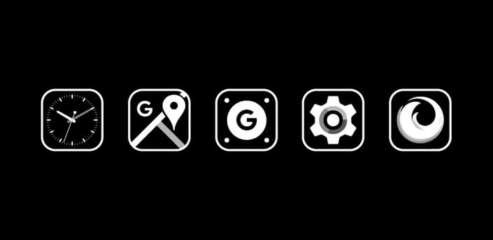 Monoic SQ Icon Pack: White, Monotone, Minimalistic apk