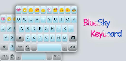 Blue Sky Emoji Keyboard Theme apk