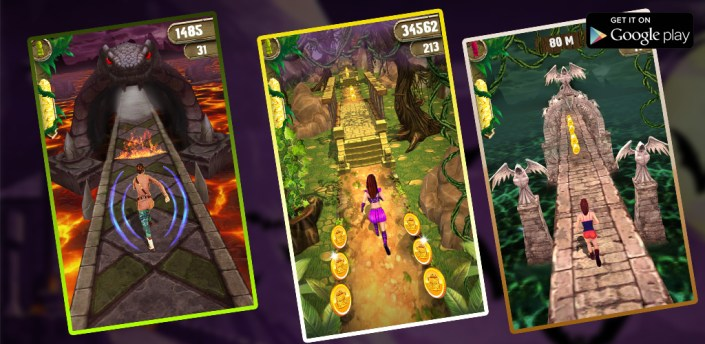 Scary Temple Final Run Lost Princess Running Game apk