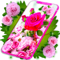 Pink Rose Live Wallpaper 🌹 3D Roses 4K Wallpapers Icon