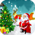Christmas Santa Adventure Fun Icon