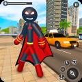 Stickman Mafia Rope Hero - Superhero Gangster Game Icon