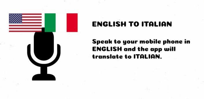 ENGLISH to ITALIAN Translator - Speak and Translate apk