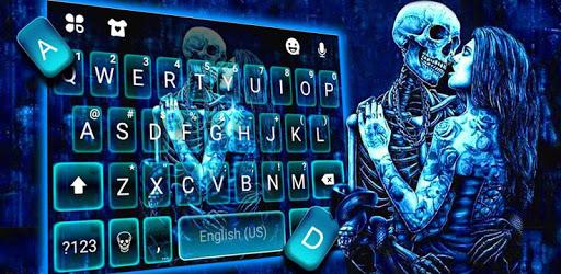 Ghost Lovers Kiss Keyboard Theme apk