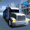 Big car transport truck 3D Icon