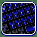 Classic Black Blue Keyboard Icon