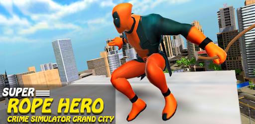 Super Rope Crime Hero - Grand City Simulator Game apk