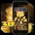 3D Ripple Golden Rose Launcher Wallpaper Theme Icon