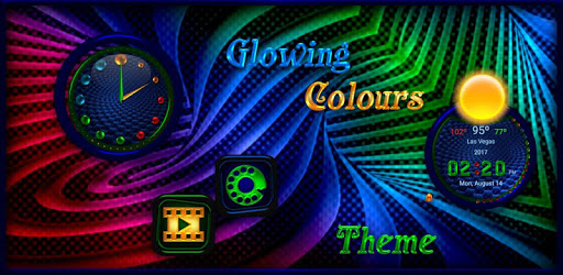TSF NEXT ADW  Smart LAUNCHER GLOWING COLOURS THEME apk