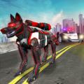 US Police Cop Dog Robot Transform: Robot Car Wars Icon