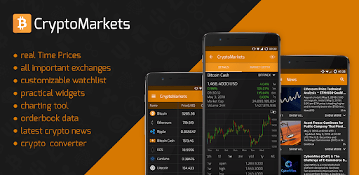 CryptoMarkets - BTC, BCH, ETH, Altcoins, Marketcap apk